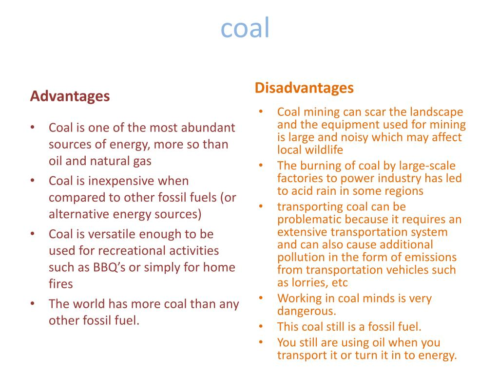 what are the disadvantages of fossil fuels