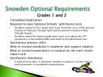 snowden optional requirements