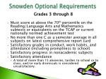 snowden optional requirements1