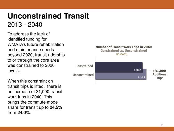 Unconstrained Transit