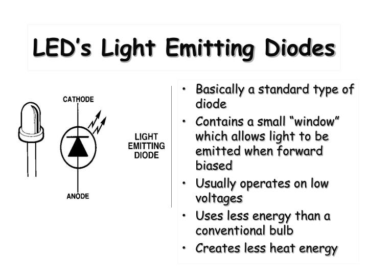LED's Light Emitting Diodes