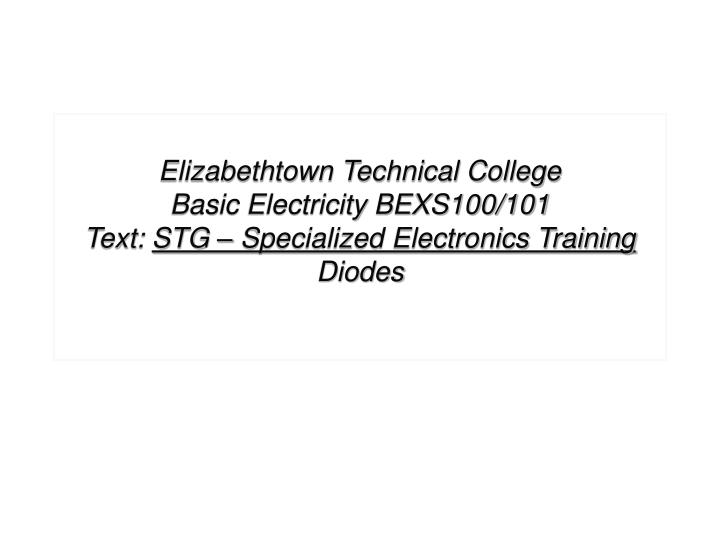 Elizabethtown Technical College