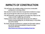 impacts of construction