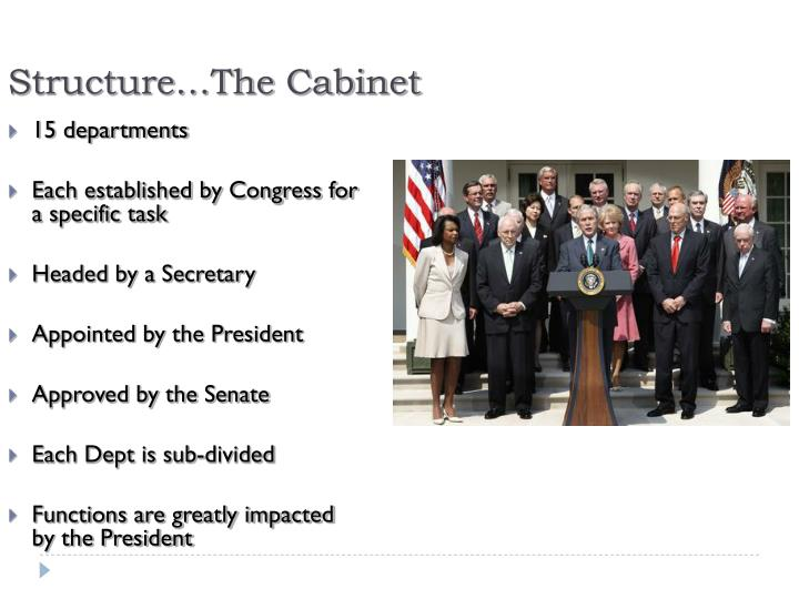 Structure…The Cabinet