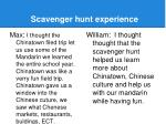 scavenger hunt experience