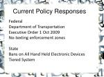 current policy responses