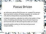 focus driven