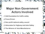 major non government actors involved