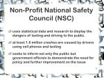 non profit national safety council nsc