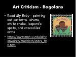 art criticism bogolans