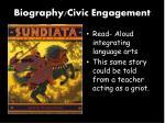 biography civic engagement