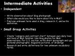 intermediate activities