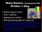 mario romero soundougouba mali october 23 blog