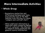more intermediate activities