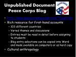 unpublished document peace corps blog