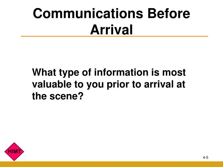 Communications Before