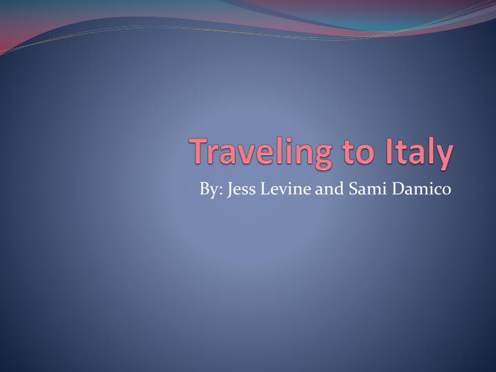 traveling to italy n.