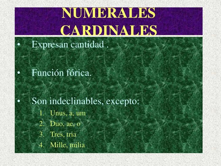 Numerales cardinales