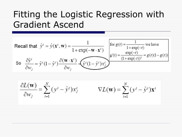 Fitting the Logistic Regression with Gradient Ascend
