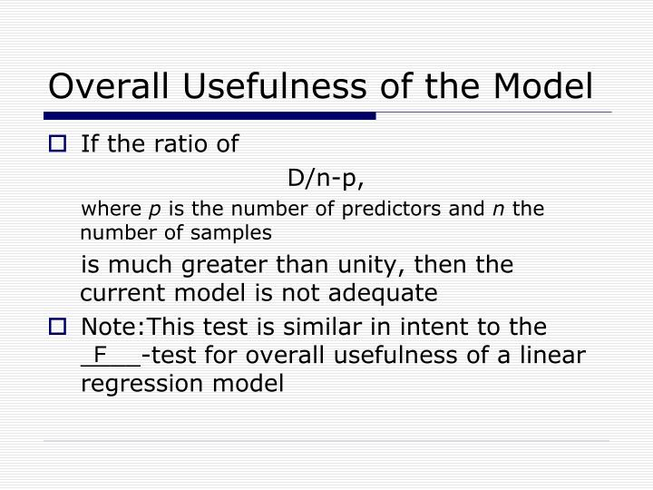 Overall Usefulness of the Model