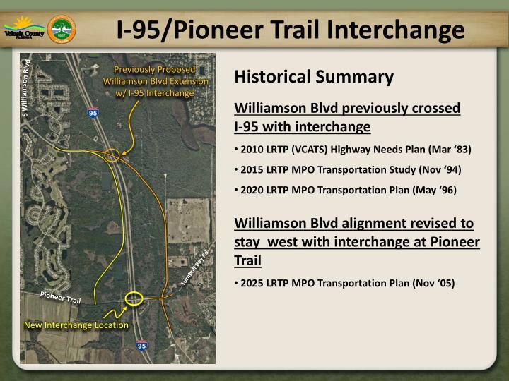 I 95 pioneer trail interchange1