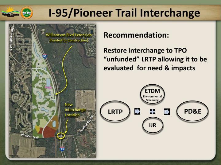 I-95/Pioneer Trail Interchange
