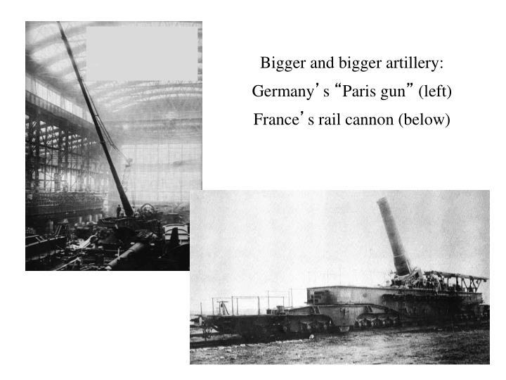 Bigger and bigger artillery:
