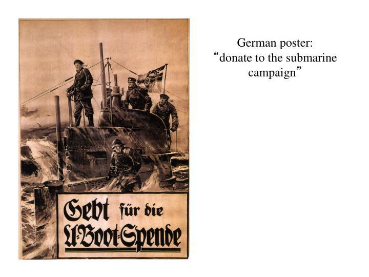 German poster: