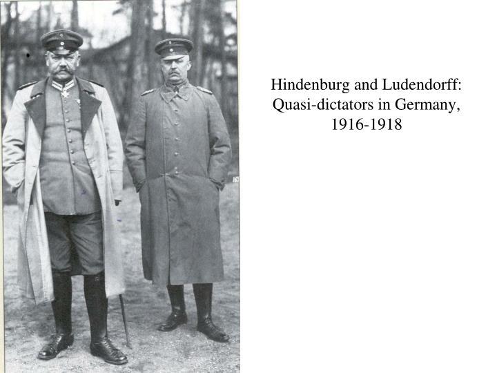Hindenburg and Ludendorff: