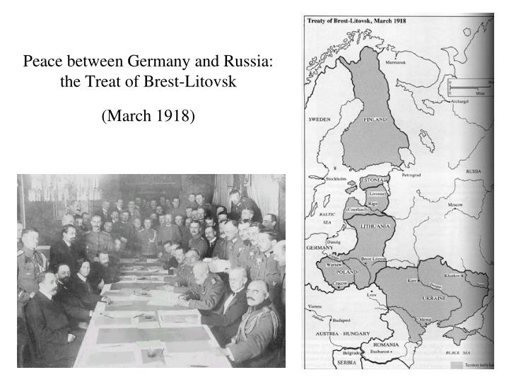 Peace between Germany and Russia: