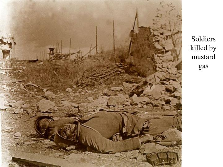 Soldiers killed by mustard gas