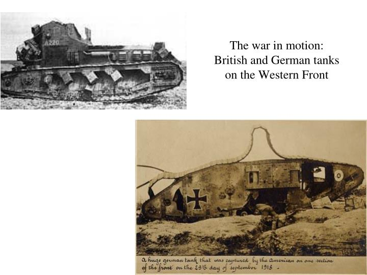 The war in motion: