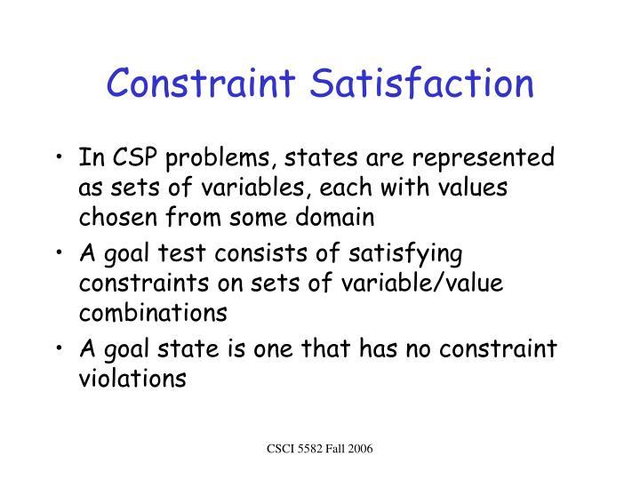 Constraint Satisfaction