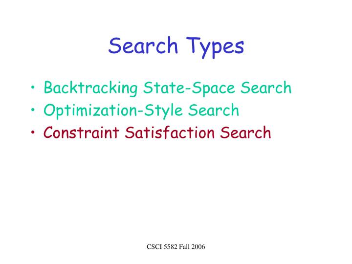 Search types