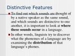 distinctive features16