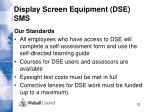 display screen equipment dse sms