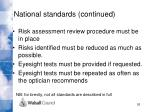 national standards continued