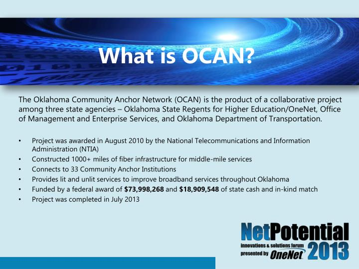 What is ocan
