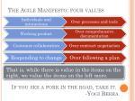 the agile manifesto four values