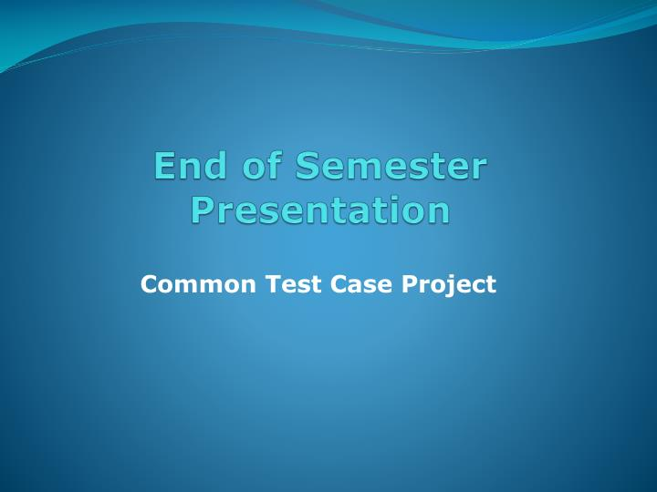 end of the semester essay Advice on writing the end of semester essay - download as word doc (doc), pdf file (pdf), text file (txt) or read online.
