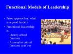 functional models of leadership
