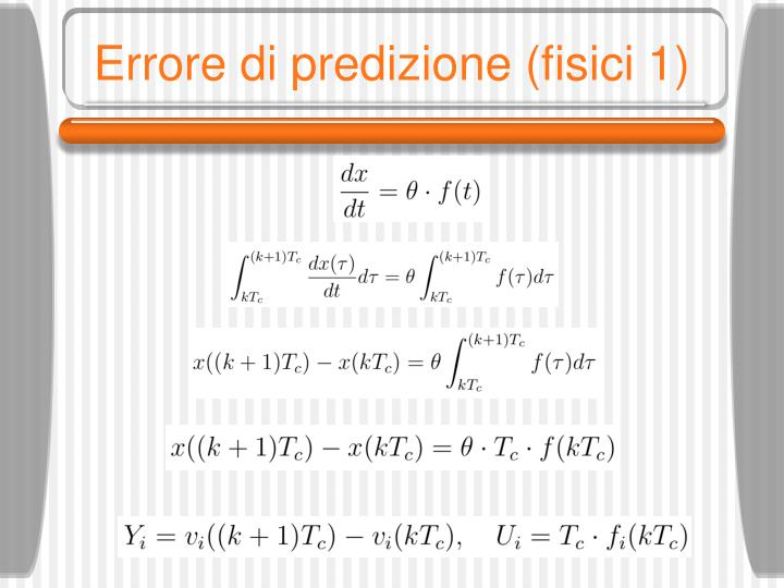 Errore di predizione (fisici 1)