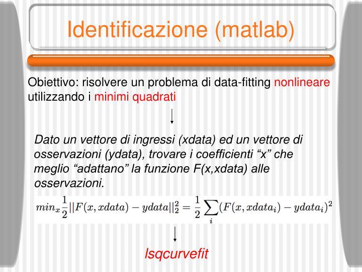 Identificazione (matlab)
