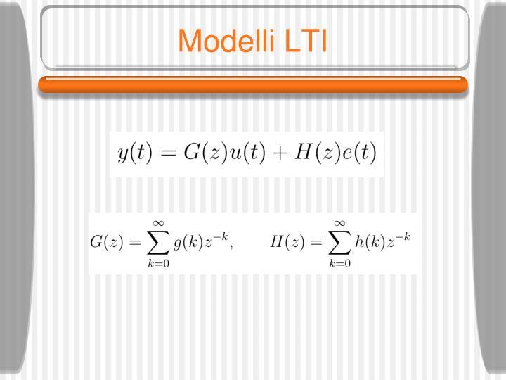 Modelli LTI