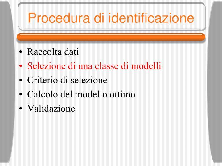 Procedura di identificazione