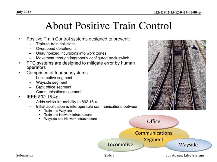 About positive train control
