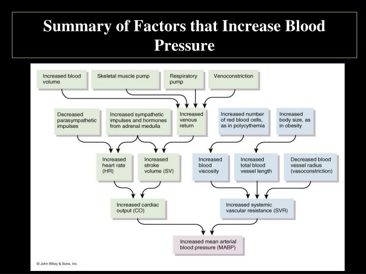 Summary of Factors that Increase Blood Pressure