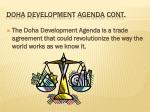 doha development agenda cont