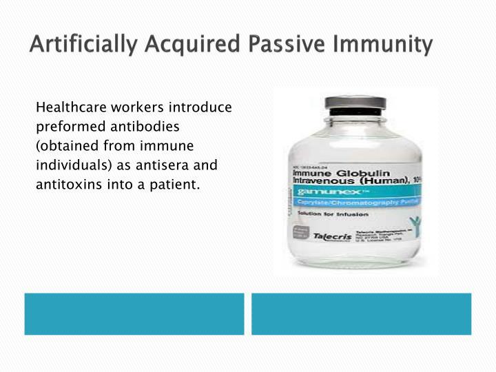 Artificially Acquired Passive Immunity