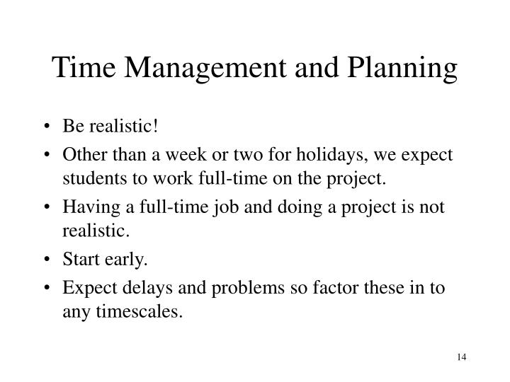 Time Management and Planning